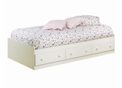 Summer Breeze Collection Twin Size Mates Bed in White