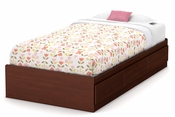 Summer Breeze Twin Mates Bed (39'') with 3 Drawers - Royal Cherry