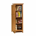 Summer Home 21.5''W x 61''H Wooden Pantry with 3 Adjustable Shelves - Carolina Oak [401867-FS-SRTA]