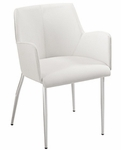 Sunny Arm Chair in White (Set of 2) [17618WHT-FS-ERS]