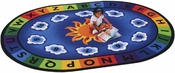 Sunny Day Learn & Play ABC's and 123's Rug