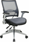 Space Light Air Grid® Back and Seat Manager's Chair with 4 Lever Multi Function - Black [67-66N69R5-FS-OS]