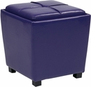 OSP Designs Metro 2-Piece Ottoman Set in Purple Vinyl