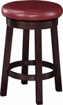 OSP Designs Metro 24'' Round Faux Leather Barstool with Footrest - Crimson Red [MET1924-RD-FS-OS]