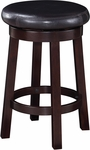OSP Designs Metro 24'' Round Faux Leather Barstool with Footrest - Espresso [MET1924-ES-FS-OS]