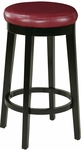 OSP Designs Metro 29'' Round Faux Leather Barstool with Footrest - Crimson Red [MET1930-RD-FS-OS]