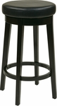 OSP Designs Metro 29'' Round Faux Leather Barstool with Footrest - Espresso [MET1930-ES-FS-OS]
