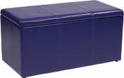 OSP Designs Metro 3-Piece Ottoman Set in Purple Vinyl
