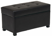 OSP Designs Metro Storage Ottoman/Chest in Espresso Faux Leather