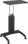 OSP Designs Precision Adjustable Laptop Stand with Casters - Espresso [PSN628-FS-OS]