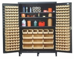 Super-Wide Colossal Heavy Duty Cabinet with 185 Bins [QSC-60S-QSS]