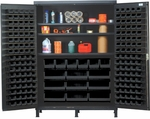 Super-Wide Colossal Heavy Duty Cabinet with 185 Bins - Black [QSC-60S-BK-QSS]
