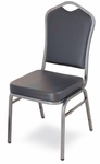 Superb Seating Heavy-Duty Steel Frame Vinyl Upholstered Stacking Chair - Black [10388-MCC]