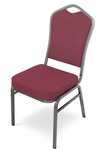 Superb Seating Heavy-Duty Steel Frame Fabric Upholstered Stacking Chair [103XX-MCC]