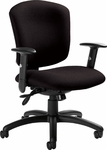 Supra X QuickShip Medium Back Multi Tilter Task Chair with Arms and Casters [5336-3-FS-GLO]