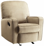 Sutton Swivel Glider Recliner in Stella Straw [DS-912-006-051-FS-PUL]