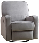 Sutton Swivel Glider Recliner in Stella Zen Grey [DS-912-006-177-FS-PUL]