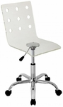 Swiss Acrylic Office Chair in Clear [OFC-TW-SWISS-CL-FS-LUMI]