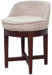 Swivel Chair with Micro Fiber Seat and Cherry Finish Base [4007-FS-EHF]