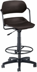 Martisa Plastic Task Drafting Kit Chair - Black Frame and Black Seat [200-DK-BLK-BLK-FS-MFO]