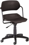 Martisa Plastic Task Chair - Black Frame and Black Seat [200-BLK-BLK-FS-MFO]
