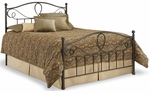 Sylvania Dynamic Style Metal Bed with Frame - Queen - French Roast [B11775-FS-FBG]