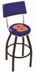 Syracuse University 25'' Black Wrinkle Finish Swivel Counter Height Stool with Cushioned Back [L8B425SYRCSE-FS-HOB]