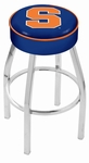 Syracuse University 25'' Chrome Finish Swivel Backless Counter Height Stool with 4'' Thick Seat [L8C125SYRCSE-FS-HOB]