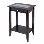 Syrah Side Table with Frosted Glass [92822-FS-WWT]