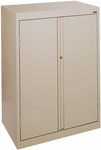 System Series 30'' W x 18'' D x 42'' H Double Door Storage with Adjustable Shelves - Red [HF2F-301842-01-EEL]