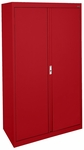 System Series 30'' W x 18'' D x 64'' H Double Door Storage with Adjustable Shelves - Red [HA3F-301864-01-EEL]
