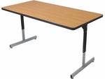 T5 Series Activity Table with Adjustable Pedestal Legs [T52036-AP]