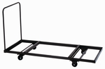 Welded Iron Folding Table Truck for Flat Stacking Rectangular Tables - 30''D x 72''W [T3072-01-CRL]