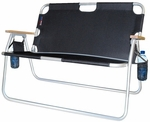 Tailgater Two Person Folding Aluminum Chair - Black [771722DH-FS-ALG]