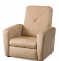 Tan microfiber Gaming Chair and Ottoman