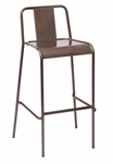 Tara Stackable Indoor Barstool Clear Coat [DV380CL-BFMS]
