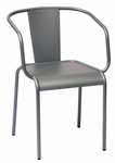 Tara X Stackable Outdoor Arm Chair Titanium Silver [DV680TS-BFMS]