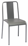Tara X Stackable Outdoor Side Chair Titanium Silver [DV580TS-BFMS]