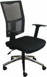 Fermata Task Mesh Chair with Aluminum Base - Black Fabric [WMCTKBA-FS-MVL]