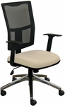Fermata Task Mesh Chair with Aluminum Base - Flax Fabric [WMCTKFA-5821-FS-MVL]