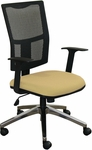 Fermata Task Mesh Chair with Aluminum Base - Forsythia Fabric [WMCTKFA-5822-FS-MVL]