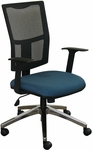 Fermata Task Mesh Chair with Aluminum Base - Iris Fabric [WMCTKFA-5820-FS-MVL]