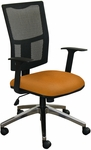 Fermata Task Mesh Chair with Aluminum Base - Orange Fabric [WMCTKFA-F6551-FS-MVL]