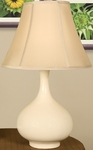 Splash Ceramic Teardrop 25.5''H Table Lamp with Sewn Beige Shade - Crackle [12T276CK-FS-PAS]