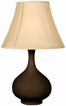 Splash Ceramic Teardrop 25.5''H Table Lamp with Sewn Beige Shade - Espresso [12T276ES-FS-PAS]