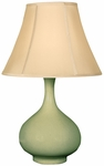 Splash Ceramic Teardrop 25.5''H Table Lamp with Sewn Beige Shade - Moss [12T276MS-FS-PAS]