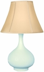 Splash Ceramic Teardrop 25.5''H Table Lamp with Sewn Beige Shade - Sky [12T276SK-FS-PAS]