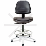 Tec Line Cleanroom and ESD Class 100 Medium Height Stool [SP1318-660-FS-DV]