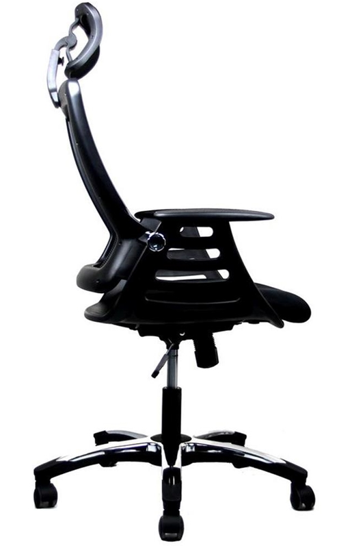 Techni Mobili Executive High Back Folding Chair with Headrest Black RTA 80