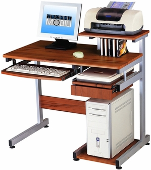 Techni Mobili Multifunction Computer Desk Wood Grain